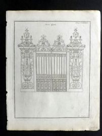 Langley 1777 Antique Architectural Print. Iron Gate 183.